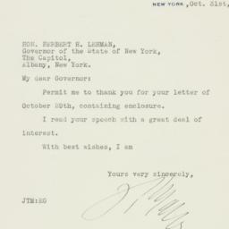 Letter : 1935 October 31