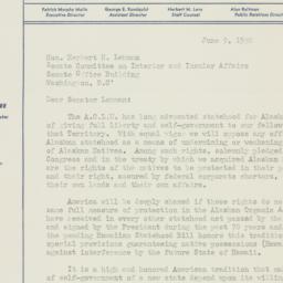 Memorandum : 1950 June 9