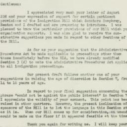 Letter : 1951 August 25