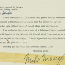 Telegram: 1955 April 8