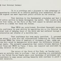 Letter : 1946 October 31