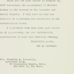 Letter : 1947 January 28