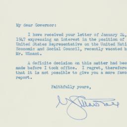 Letter : 1947 January 29