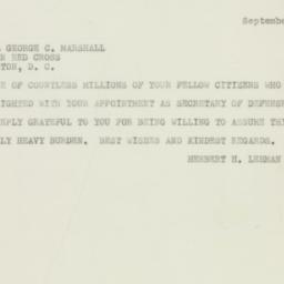 Letter : 1950 September 14