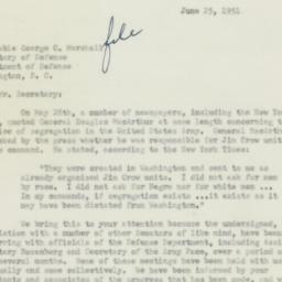 Letter : 1951 June 25