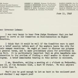 Memorandum : 1948 June 11