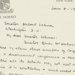 Letter: 1950 June 8