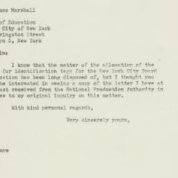 Letter: 1951 April 16