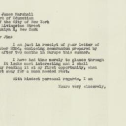 Letter : 1951 October 26