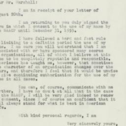 Letter : 1954 August 23