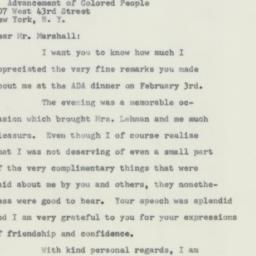 Telegram : 1956 February 13