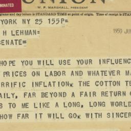 Letter : 1950 July 25