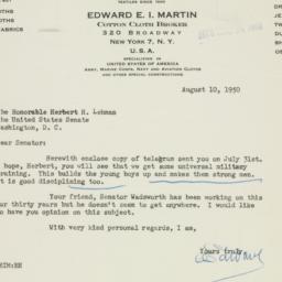 Letter : 1950 August 10