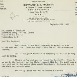 Letter : 1950 September 20