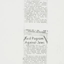 Letter : 1951 October 1