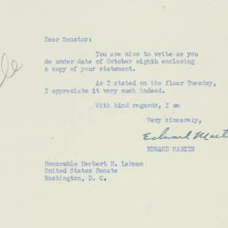 Letter : 1951 October 11