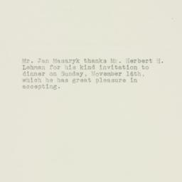 Memorandum : 1947 October 30