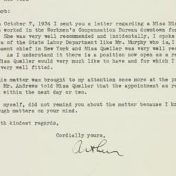 Letter: 1934 December 5