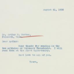 Letter: 1936 August 21