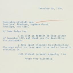 Letter : 1935 December 20