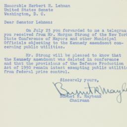Letter : 1951 August 2
