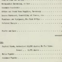 Chart : 1922 August 7