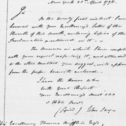 Document, 1796 April 25