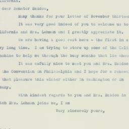 Letter: 1936 November 15
