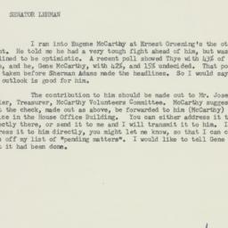 Memorandum: 1958 July 2