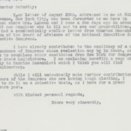 Letter : 1962 September 4