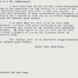 Letter : 1962 June 12