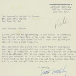 Letter : 1962 July 20
