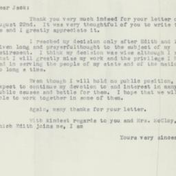 Letter : 1956 August 29