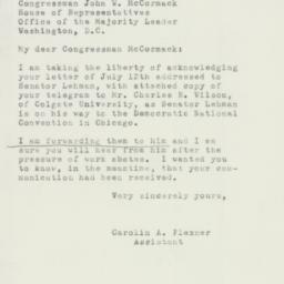 Letter : 1952 July 15