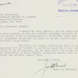 Letter : 1937 February 23