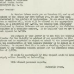 Letter : 1952 February 21