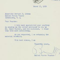 Letter: 1950 March 17