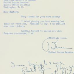 Letter: 1950 November 9