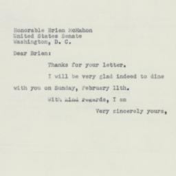 Letter: 1951 January 26