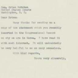 Letter: 1952 April 9