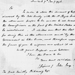 Document, 1796 January 07