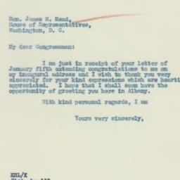 Letter : 1933 January 9