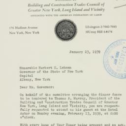 Letter : 1939 January 23