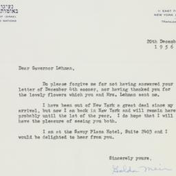 Letter : 1956 December 20