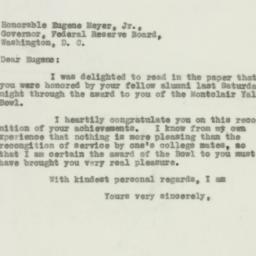 Letter: 1931 December 7