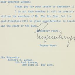 Letter : 1946 September 23