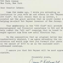 Letter : 1957 August 5