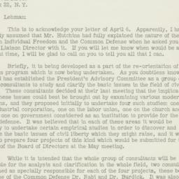 Letter : 1957 April 11