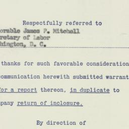Memorandum : 1956 January 23