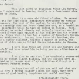 Letter : 1957 December 13